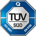 TÜV ISO 9001 and EN 9100 - Quality Management System for Aviation, Space and Defence organizations